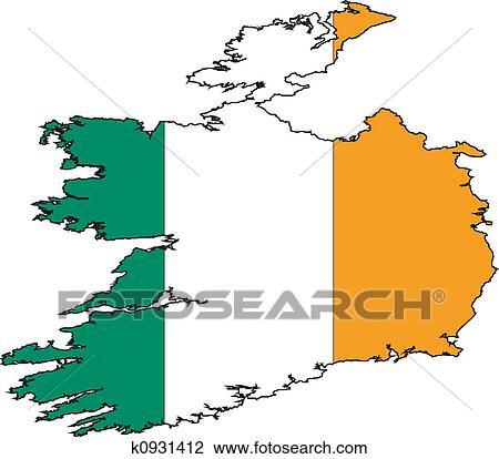 Map Of Ireland Drawing.Map Ireland Drawing