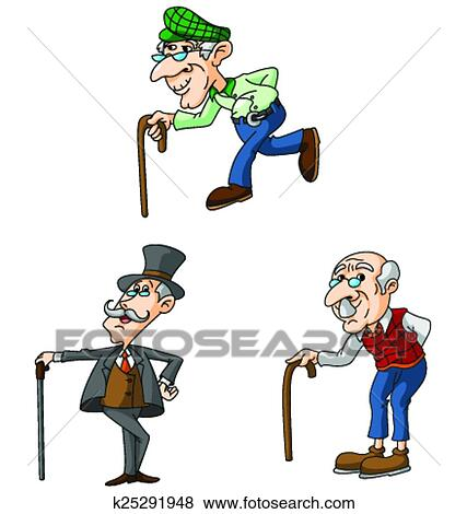 clip art of old man k25291948 search clipart illustration posters rh fotosearch com old man clip art free old man clipart happy smile pic