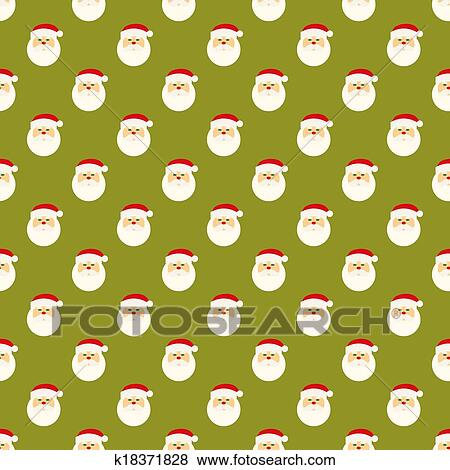 Clip Art Of Abstract Christmas Santa Clause Face Pattern Wallpaper Best Christmas Pattern Wallpaper