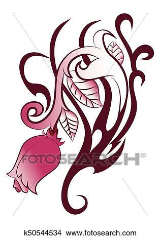 Dibujos Campana Flores Tatuaje K50544534 Buscar Clip Art