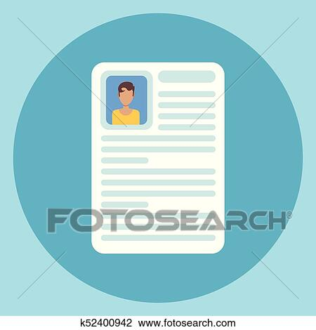 Clipart Of Cv Resume Icon Application Form Document K52400942