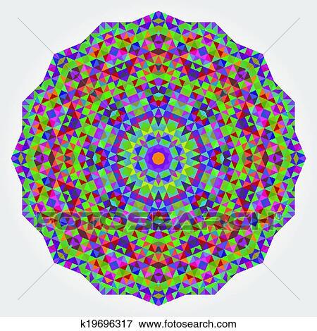 Estratto Colorito Cerchio Sfondo Geometrico Vettore Mandala