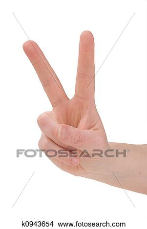 Stock Photo Of Peace Sign Hand K0943654 Search Stock Images Mural