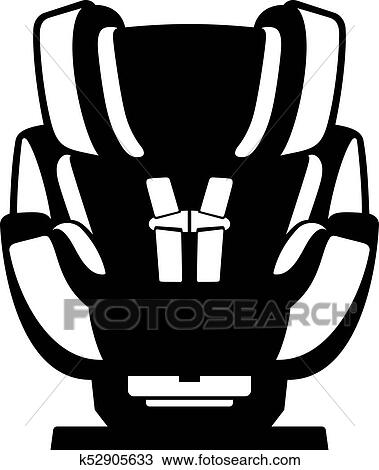Clipart Of Safety Car Seat For A Baby K52905633