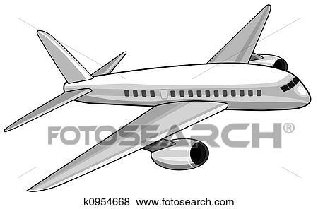 乗客 航空機 イラスト K0954668 Fotosearch