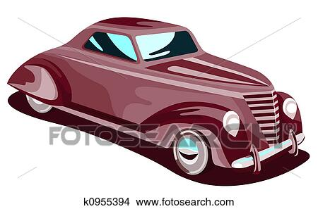 Drawings of 1930s automobile k0955394 - Search Clip Art ...