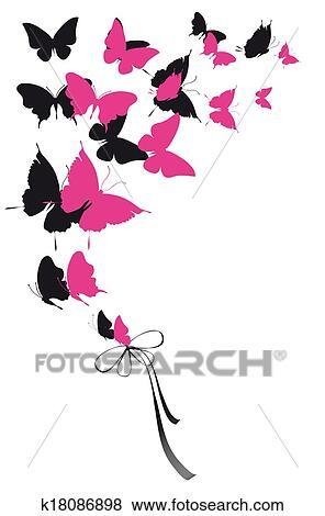 Archivio Illustrazioni Farfalle Disegno K18086898 Cerca Clipart