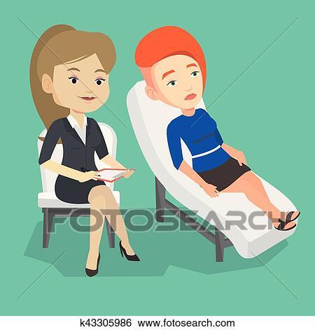 Clipart psychologue avoir s ance patient - Dessin de psy ...