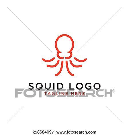 squid logo design template clip art k58684097 fotosearch fotosearch