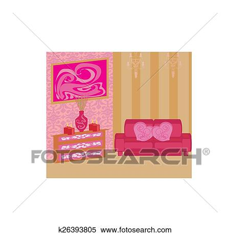 Clipart of elegant living room k26393805 - Search Clip Art ...