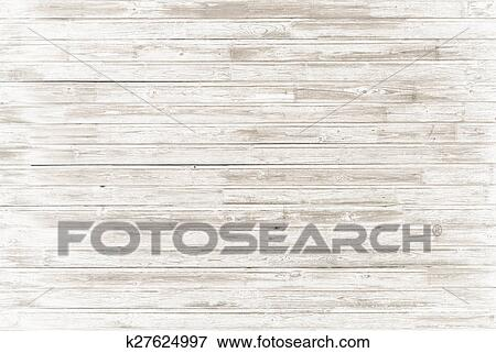 Picture Of Old Vintage White Wood Background K27624997