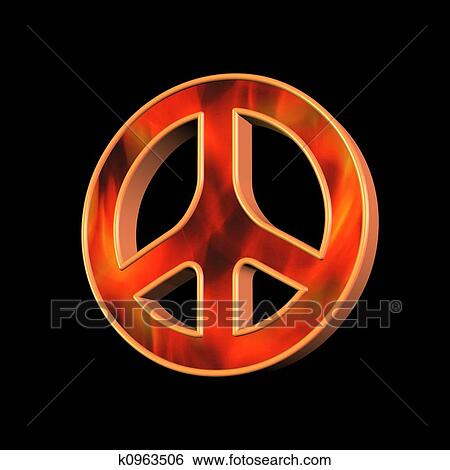Stock Illustration Of Peace And Love Symbol K0963506 Search Clip