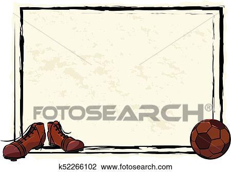 Clipart of soccer or football frame, banner, background k52266102 ...
