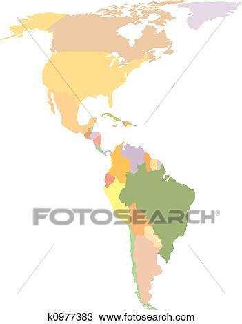 Amerika Terkep Rajz K0977383 Fotosearch