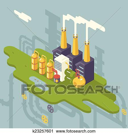 Manufacturing Plant Clipart