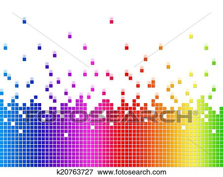 Rainbow Soundwaves Background Shows Music Songs And Artists Stock  Illustration