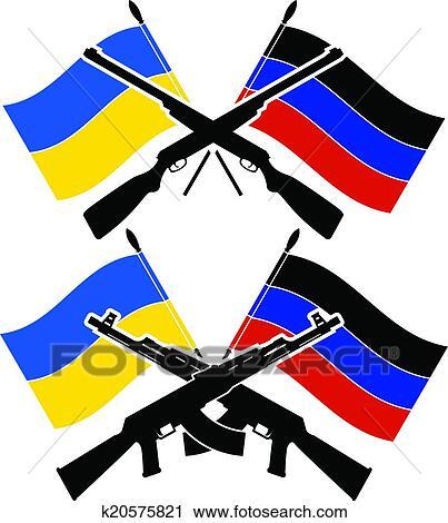 clipart of ukrainian civil war k20575821 search clip art rh fotosearch com civil war flags clipart english civil war clipart