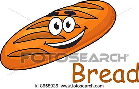 جذل رسم كاريكتوري سريع الغضب الرغيف الخبز Clip Art K18658036 Fotosearch
