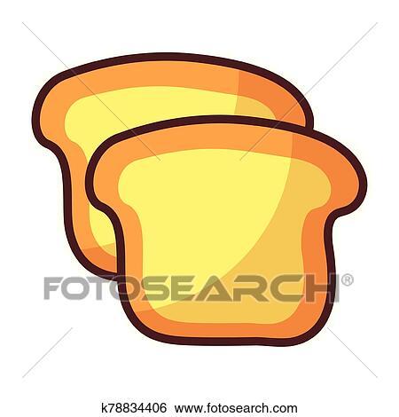 Boulangerie, pain, blanc, fond Clipart - k78834406..