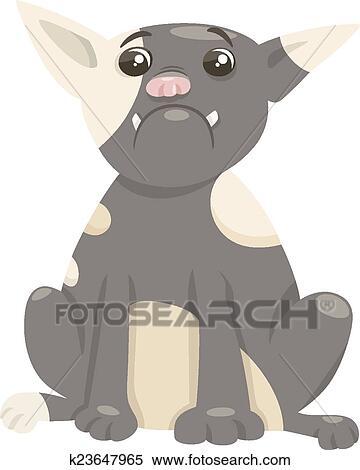 Bulldog francese cane cartone animato clipart k23647965 fotosearch
