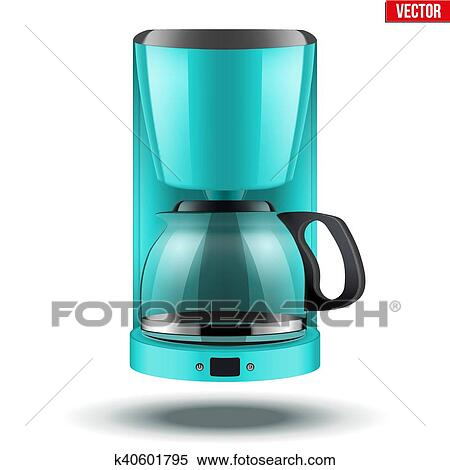 Coffee Maker With Glass Pot Clipart K40601795 Fotosearch