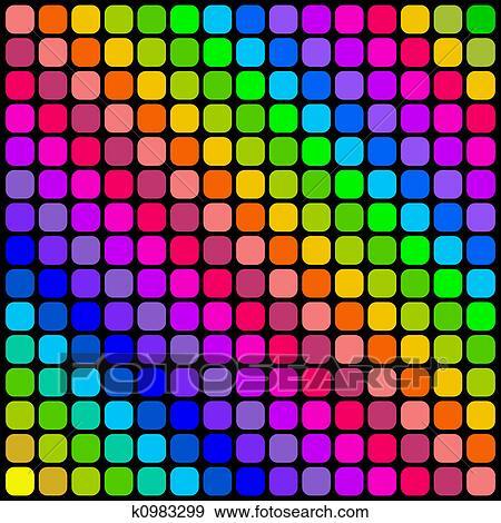 Colecci n de ilustraciones color mosaicos cuadrados - Mosaicos de colores ...