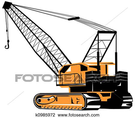 clip art of crane k0985972 search clipart illustration posters rh fotosearch com crane clipart black and white crane clip art small