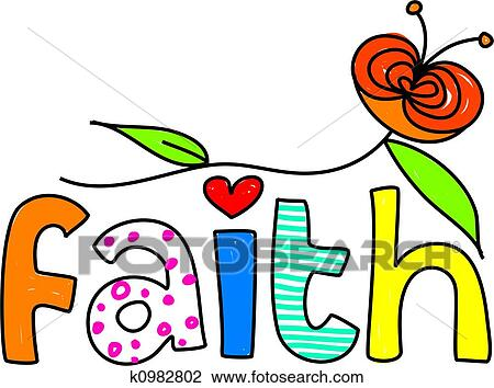 clip art of faith k0982802 search clipart illustration posters rh fotosearch com faith clipart pictures faith clip art free