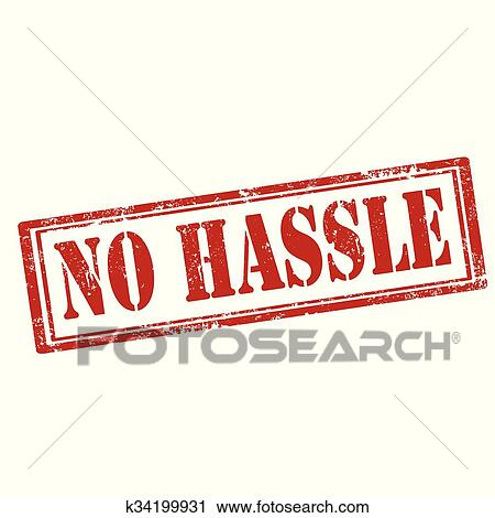 clipart of no hassle stamp k34199931 search clip art illustration rh fotosearch com