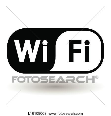 Clipart Of Wireless Network Symbol K16109003 Search Clip Art