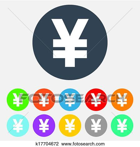 Clipart Of Yen Sign Icon Jpy Currency Symbol K17704672 Search