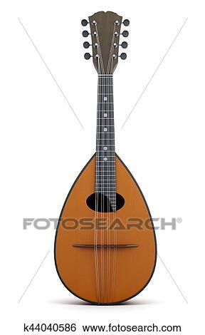 マンドリン 楽器 Isolated 3d レンダリング イラスト K44040586