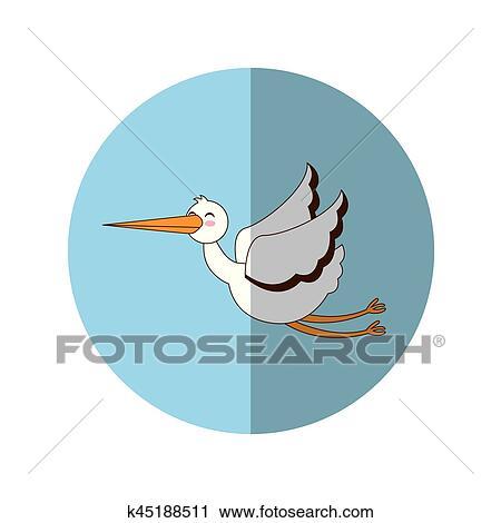 clipart cegonha voando isolado ícone k45188511 busca de