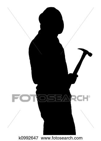 Stock Illustration Of Construction Worker Silhouette Illustration