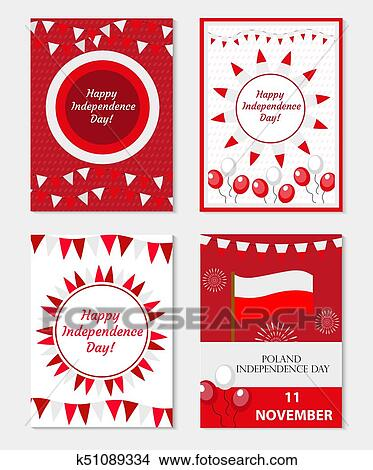 Poland Independence Day Set Of Templates For Your Design