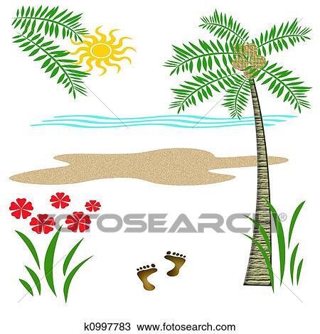 Tropique Vacances Plage Dessin