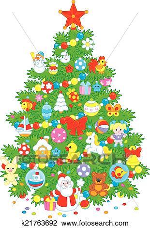 Clipart Weihnachtsbaum K21763692 Suche Clip Art Illustration