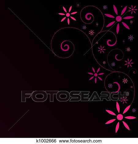 Abstract Pink Flower Background Stock Illustration K1002666