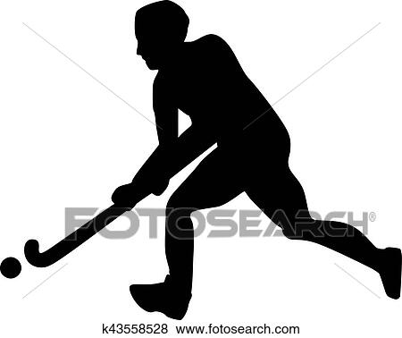 Field Hockey Player Clip Art K43558528 Fotosearch