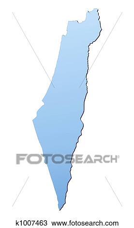 Wonderful Drawing   Israel Map. Fotosearch   Search Clipart, Illustration, Fine Art  Prints,