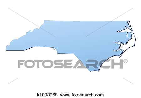 Stock Illustration of North Carolina(USA) map k1008968 - Search EPS ...