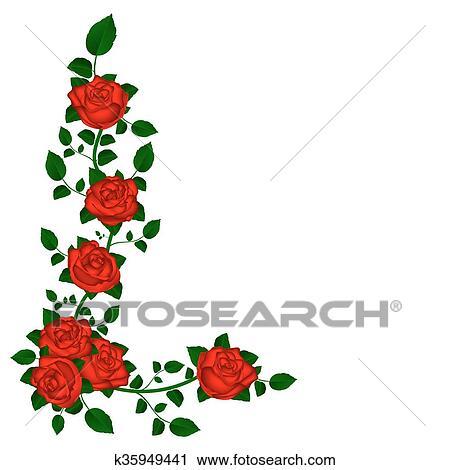 Clipart Vite Di Rose Rosse K35949441 Cerca Clipart
