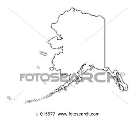 Stock Illustration Of Alaska Usa Outline Map K1015577 Search Eps