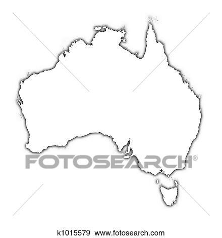 Outline Map Of Australia.Australia Outline Map Stock Illustration K1015579