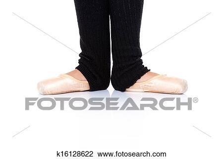 stock photo of ballet feet position en pointe k16128622 search