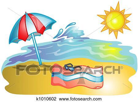 clip art of beach scene illustration k1010602 search clipart rh fotosearch com beach scene clip art for children beach scene clip art images