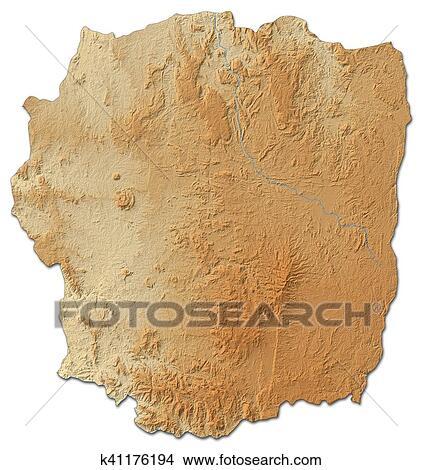Antananarivo Madagascar Carte.Carte Soulagement Antananarivo Madagascar 3d Rendering Image