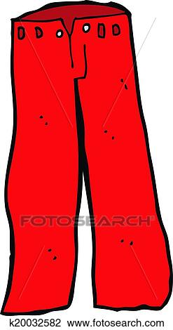 Clipart of cartoon red pants k20032582 - Search Clip Art ...