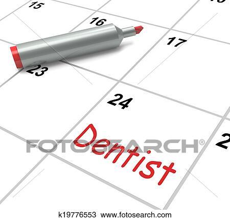 Calendrier Rendez Vous.Dentiste Calendrier Spectacles Sante Orale Et Rendez Vous Dentaire Dessin
