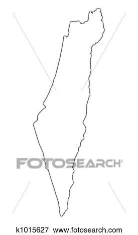 Stock Illustration   Israel Outline Map. Fotosearch   Search EPS Clipart,  Drawings, Decorative